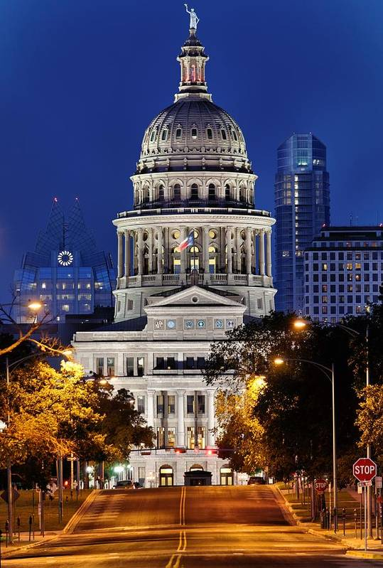 Texas Capitol Art Print featuring the photograph Capitol Of Texas by Silvio Ligutti