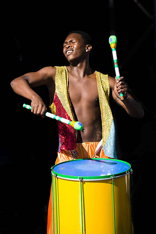 Drumming Art Print featuring the photograph Carnival Drummer by Joslin Hartley