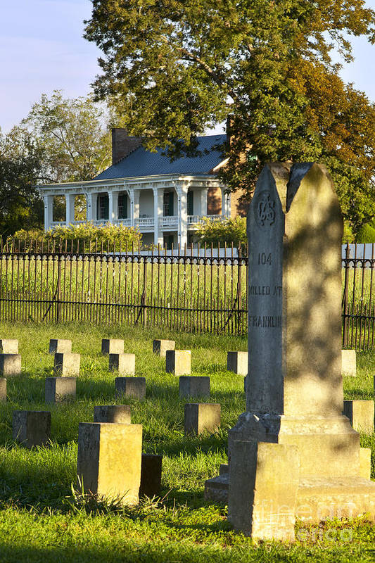 Carrie Mcgavock Art Print featuring the photograph Carnton Plantation by Brian Jannsen