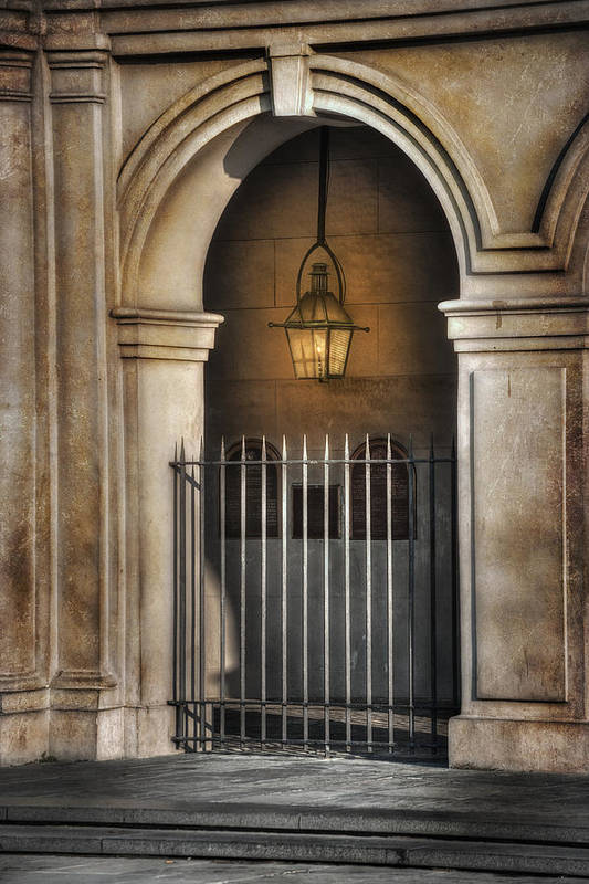 French Quarter Art Print featuring the photograph Cathedral Gate by Brenda Bryant