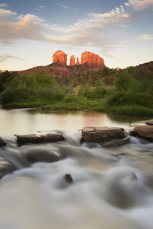 Day Art Print featuring the photograph Cathedral Rock At Red Rock by Peter Carroll