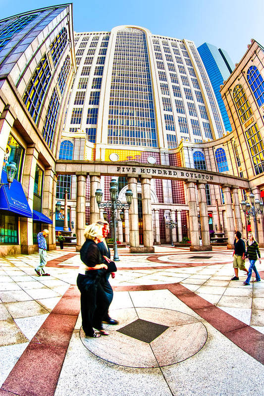 Boston Art Print featuring the photograph Caught In The Geometry Of Boylston Street by Mark E Tisdale