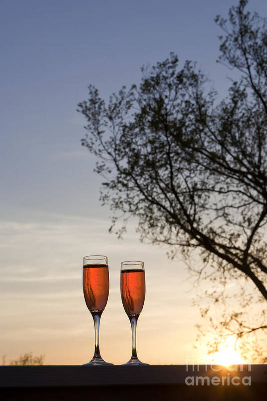 Champagne Art Print featuring the photograph Champagne For Two by Kay Pickens