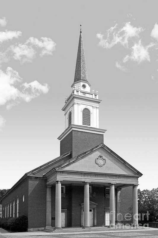 Campbell Memorial Chapel Art Print featuring the photograph Chatham University Campbell Memorial Chapel by University Icons