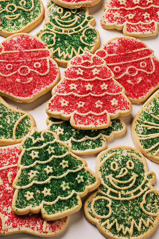 Cookies Art Print featuring the photograph Christmas Sugar Cookies by Garry Gay