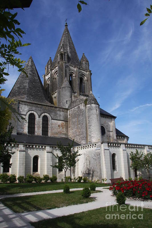 Church Art Print featuring the photograph Church - Loches - France by Christiane Schulze Art And Photography