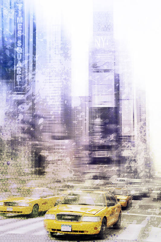 Big Apple Art Print featuring the photograph City-art Times Square I by Melanie Viola