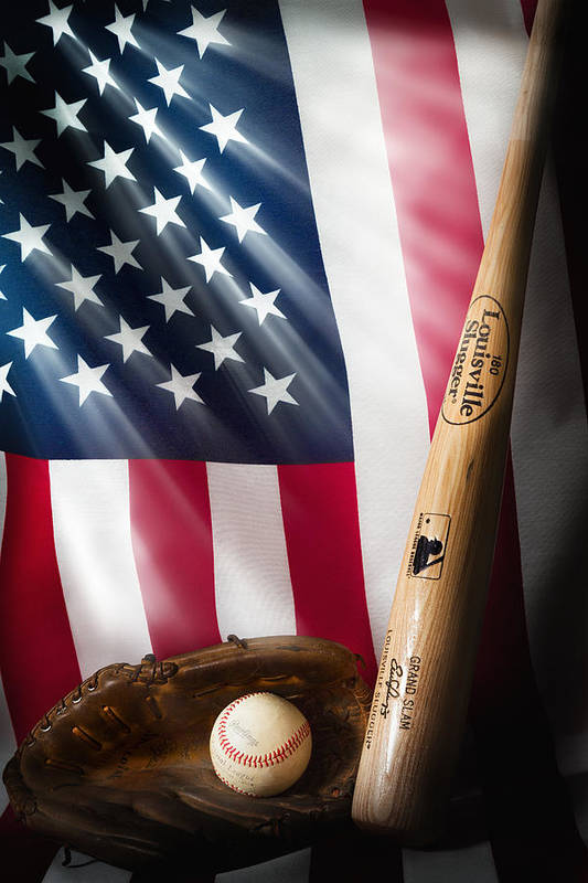 Baseball Art Print featuring the photograph Classic Americana by Bill Wakeley