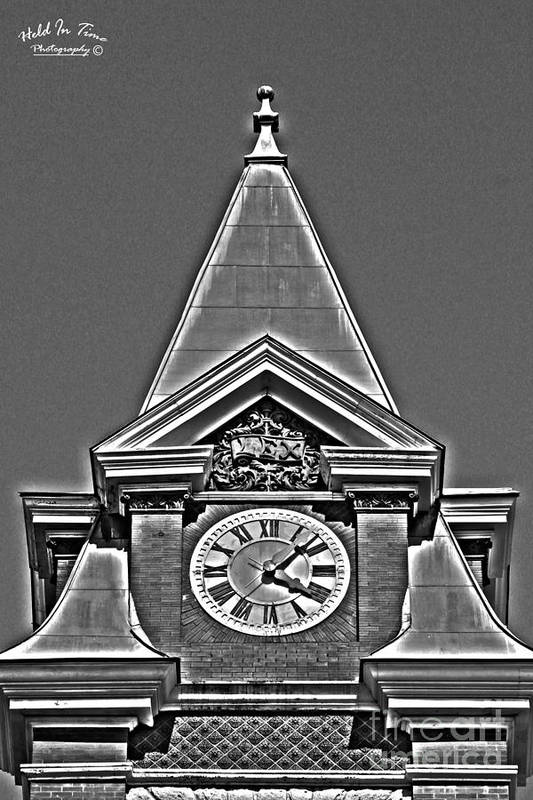 Clock Art Print featuring the photograph Clock Tower by Marie Kirschner