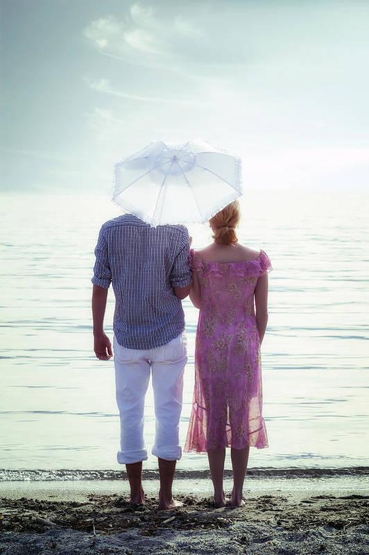 Man Art Print featuring the photograph Couple On The Beach by Joana Kruse