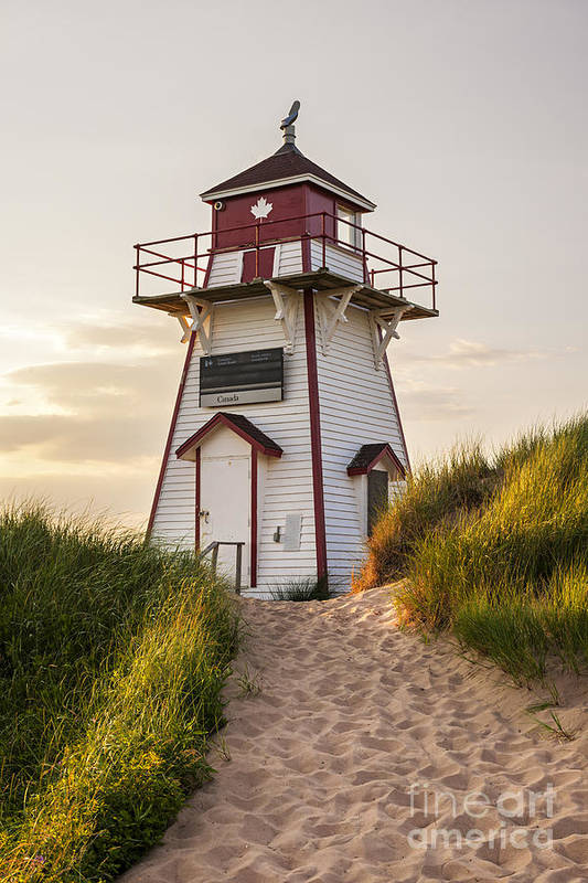 Lighthouse Art Print featuring the photograph Covehead Harbour Lighthouse by Elena Elisseeva