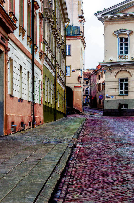Cozy Street Art Print featuring the photograph Cozy Old Town by Yevgeni Kacnelson