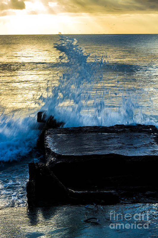 Bvi Art Print featuring the photograph Crashing Rays And Waves by Rene Triay Photography
