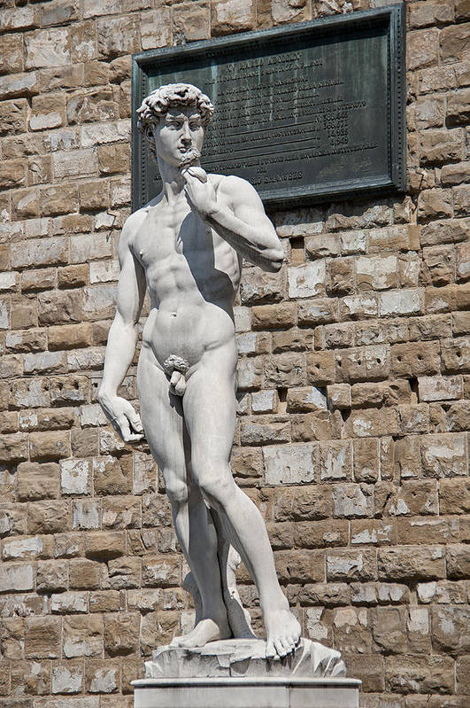Aggression Art Print featuring the photograph David By Michelangelo by Melany Sarafis