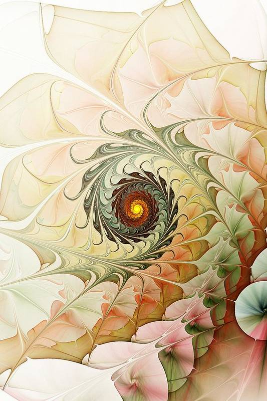Malakhova Art Print featuring the digital art Delicate Wave by Anastasiya Malakhova