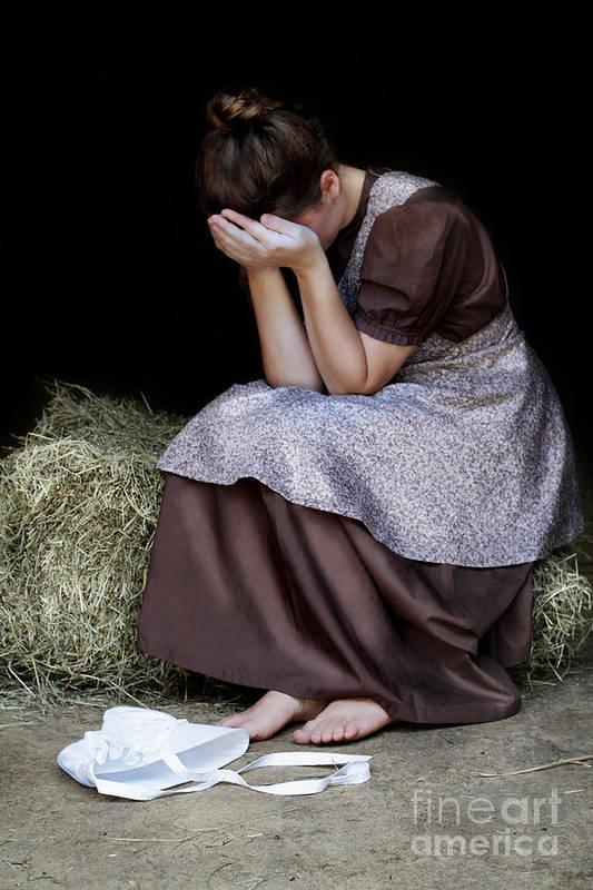 Praying Art Print featuring the photograph Despair by Stephanie Frey