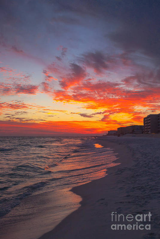 Destin Art Print featuring the photograph Destin Sunset by Kay Pickens
