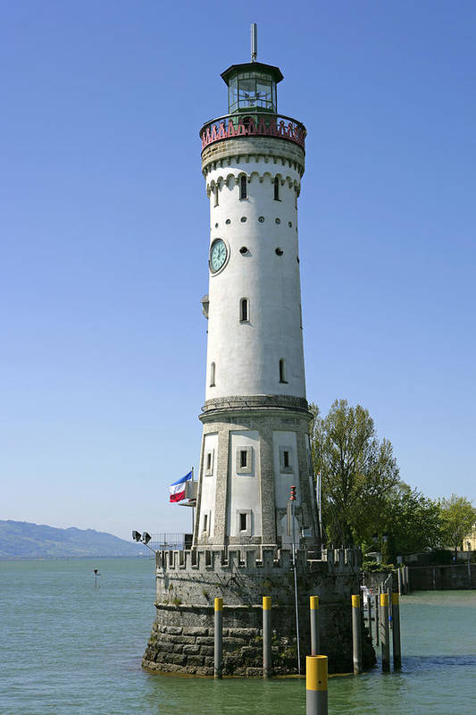 Landmark Art Print featuring the photograph Deutschland, Bayern, Lindau Am by Tips Images