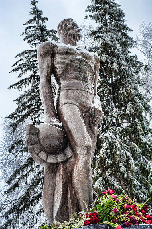 Msu Art Print featuring the photograph Dramatic Spartan by Sheri Bartoszek