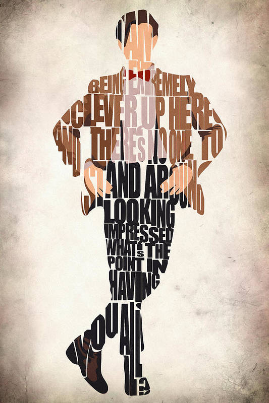 Eleventh Doctor Art Print featuring the digital art Eleventh Doctor - Doctor Who by Ayse and Deniz