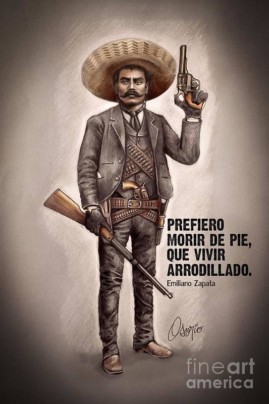 Emiliano Zapata Art Print By Claudio Osorio
