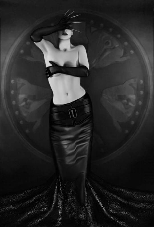 Erotic Art Print featuring the photograph Emotional Blindness - Self Portrait by Jaeda DeWalt