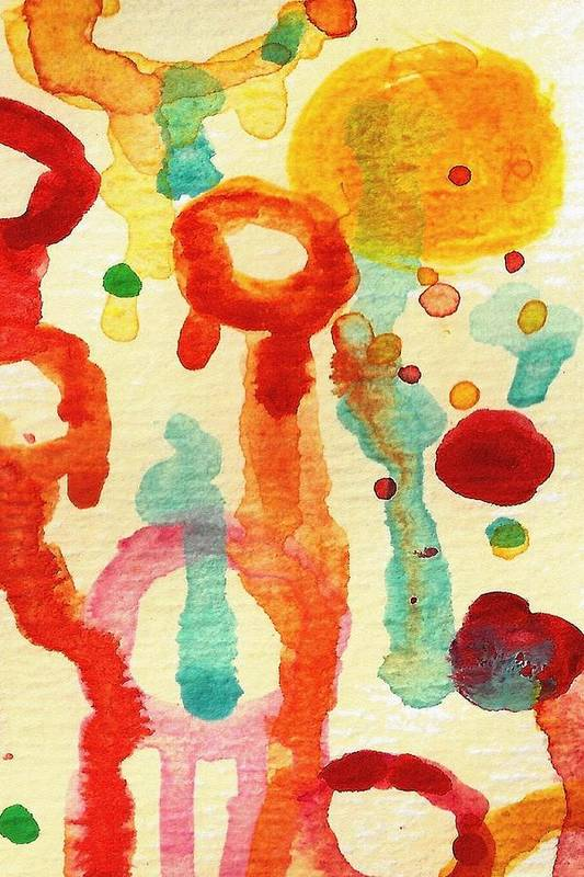 Abstract Art Print featuring the painting Encounters 1 by Amy Vangsgard