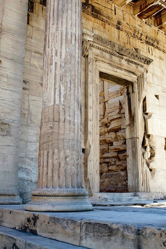 Acropolis Art Print featuring the photograph Entrance To The Temple Of The Athena Nike by Lorraine Devon Wilke