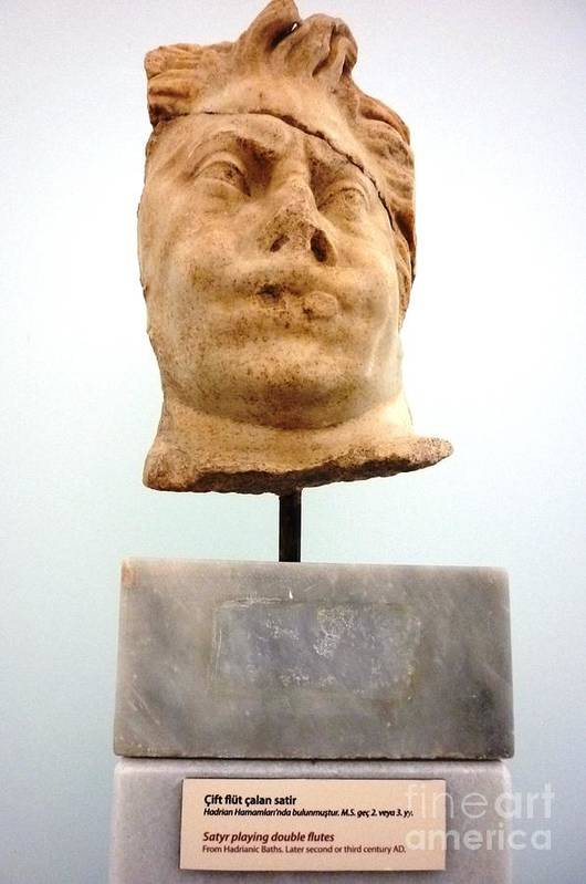 Turkey Art Print featuring the photograph Ephesus Sculptue by Ted Pollard