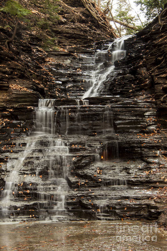 Waterfall Art Print featuring the photograph Eternal Flame Waterfalls by Darleen Stry