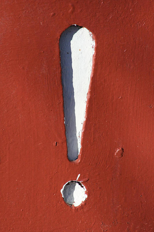 Decorator Art Art Print featuring the photograph Exclamation Point by Ric Bascobert