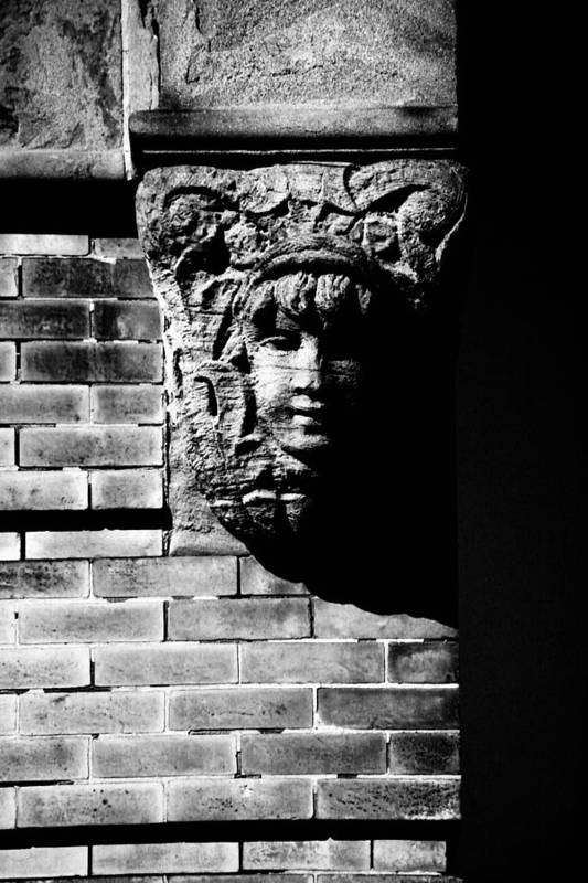 Building Art Print featuring the photograph Face Of Stone by Karol Livote