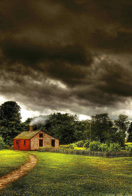 Savad Art Print featuring the photograph Farm - Barn - Storms A Comin by Mike Savad