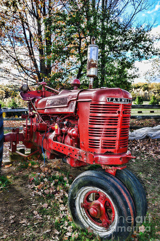 Paul Ward Art Print featuring the photograph Farmers Tractor by Paul Ward
