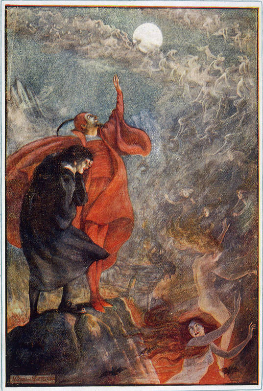 Faust With Mephistopheles Art Print By Mary Evans Picture