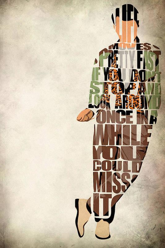 Ferris Bueller Art Print featuring the digital art Ferris Bueller's Day Off by Inspirowl Design