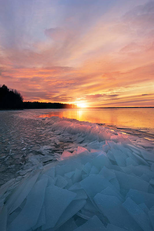 Sun Art Print featuring the photograph Fire And Ice by Christian Lindsten