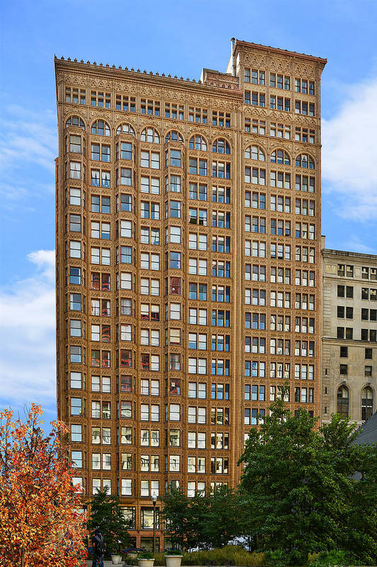 Fisher Art Print featuring the photograph Fisher Building - A Neo-gothic Chicago Landmark by Christine Till