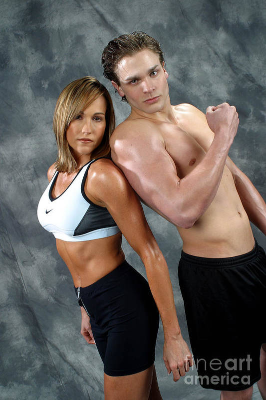 Model Art Print featuring the photograph Fitness Couple 43 by Gary Gingrich Galleries