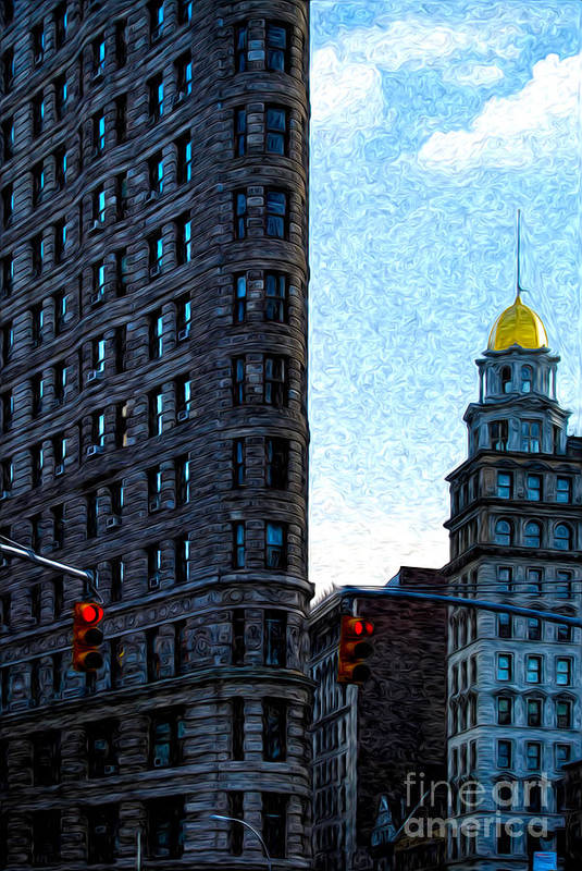 New York City Print featuring the photograph Flat Iron Nyc by Sabine Jacobs