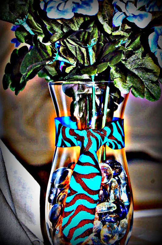 Baby Shower Print featuring the glass art Flower Tie by Joyce Brooks