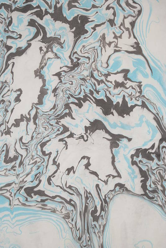 Ink Marbling Art Print featuring the painting Flowing Branches by Steve Lucas