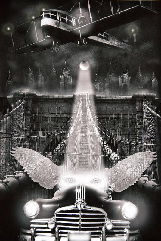 Surrealism Art Print featuring the photograph Fly Me To The Moon by Larry Butterworth