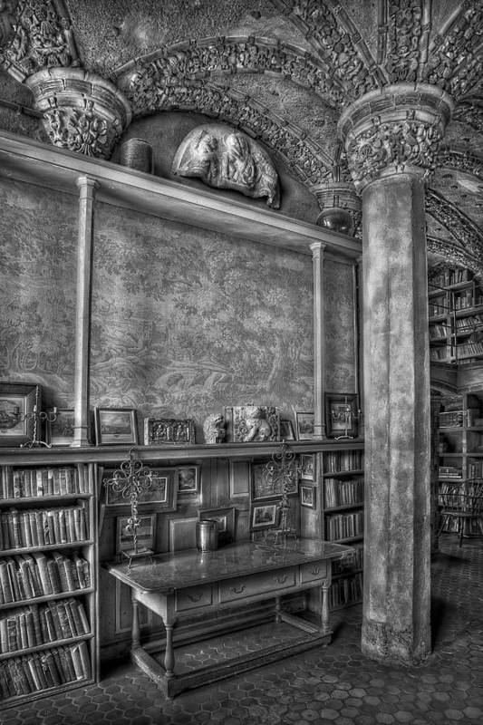 Byzantine Art Print featuring the photograph Fonthill Castle Library by Susan Candelario