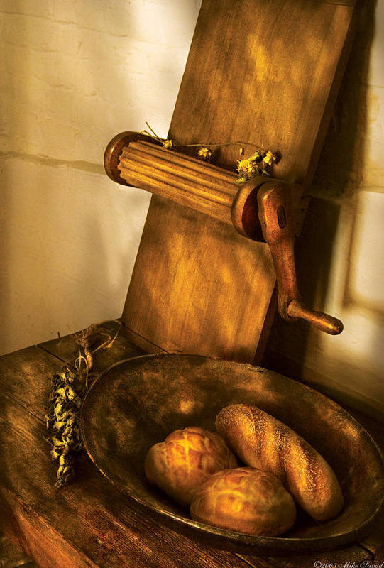 Kitchen Art Print featuring the photograph Food - Bread by Mike Savad