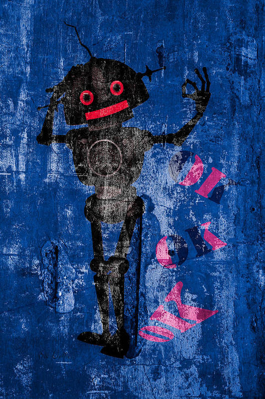 Robot Art Print featuring the photograph Foundation Number 102 Robot Graffiti by Bob Orsillo