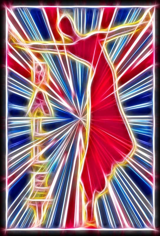 Ballet Art Print featuring the digital art Fractal Ballet by David G Paul
