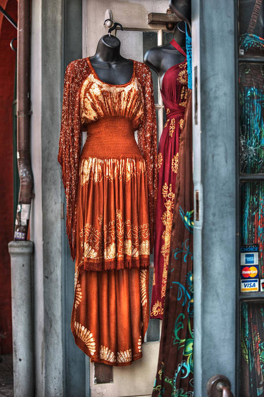 French Quarter Art Print featuring the photograph French Quarter Clothing by Brenda Bryant