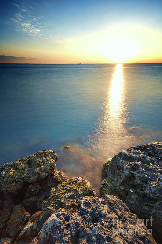 Rocks Art Print featuring the photograph From The Sea Rocks by Eyzen M Kim