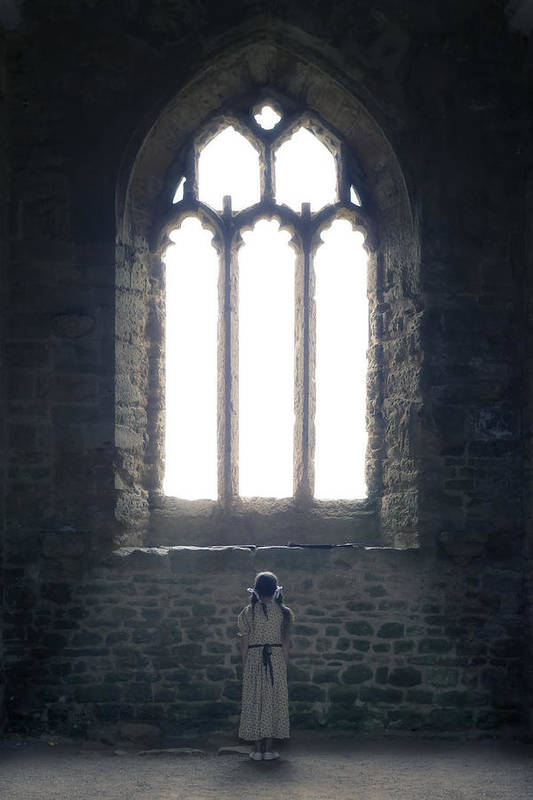 Girl Art Print featuring the photograph Girl In Chapel by Joana Kruse